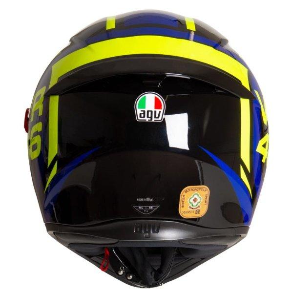 AGV K3 SV-S Ride 46 Full Face Motorcycle Helmet Back