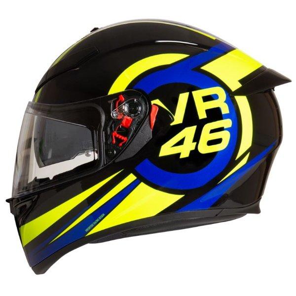 AGV K3 SV-S Ride 46 Full Face Motorcycle Helmet Left Side