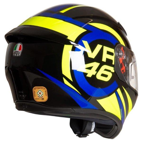 AGV K3 SV-S Ride 46 Full Face Motorcycle Helmet Back Left