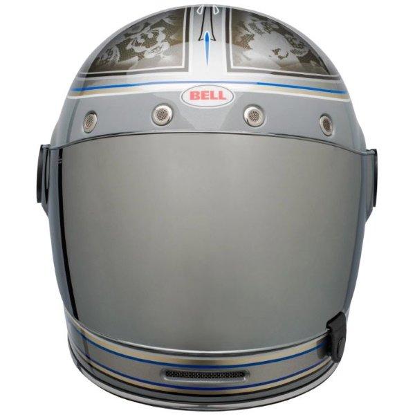 Bell Bullitt Schultz Century Silver Full Face Motorcycle Helmet Front