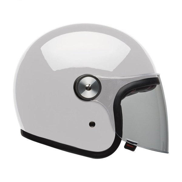 Bell Riot Solid White Open Face Motorcycle Helmet Right Side