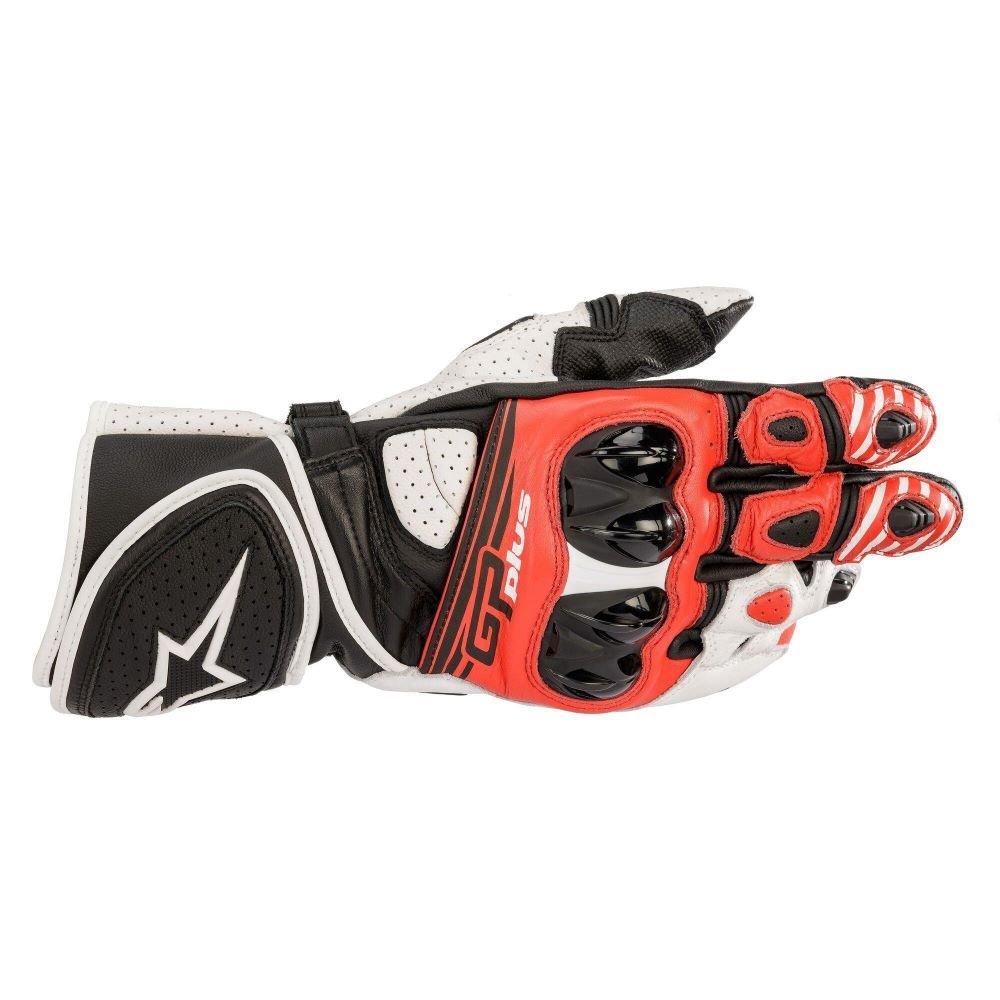 Alpinestars GP Plus R V2 Gloves Black White Bright Red Size: Mens UK - S