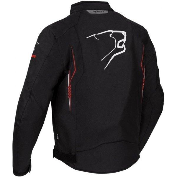 Bering Forcio Black Red White Textile Motorcycle Jacket Back