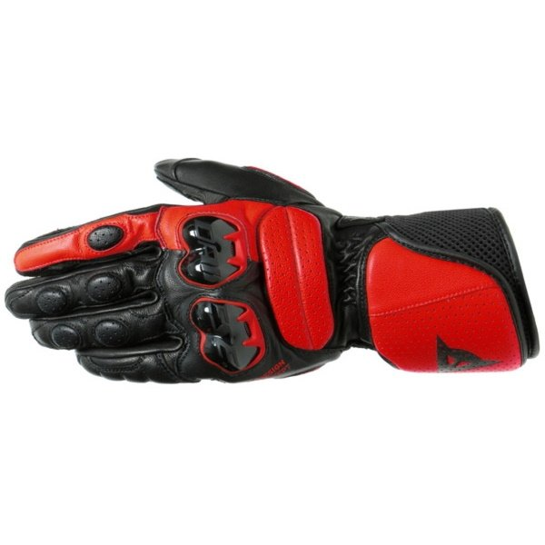 Dainese Impeto Black Lava Red Motorcycle Gloves Back
