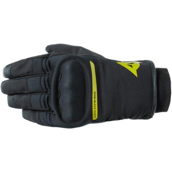 Dainese Avila D-Dry Black Fluo Yellow Motorcycle Gloves Back