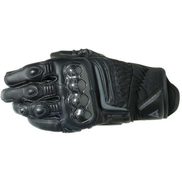 Dainese Carbon 3 Short Black Motorcycle Gloves Back