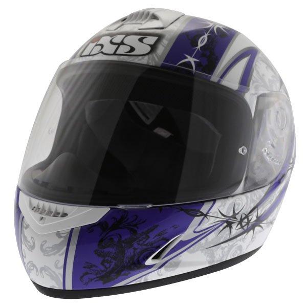 HX 128 Kids Helmet Blue White Silver Kids Motorcycle Helmets