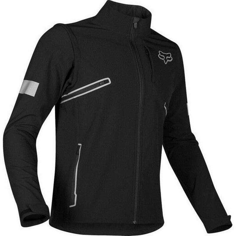 Fox Legion Softshell Black Motorcycle Jacket Front