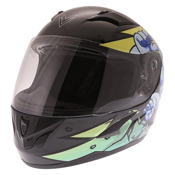 Frank Thomas FT36Y Comix Gorilla Kids Full Face Motorcycle Helmet Front Left