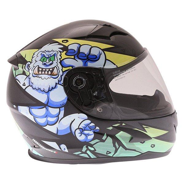 Frank Thomas FT36Y Comix Gorilla Kids Full Face Motorcycle Helmet Gorilla Right Side