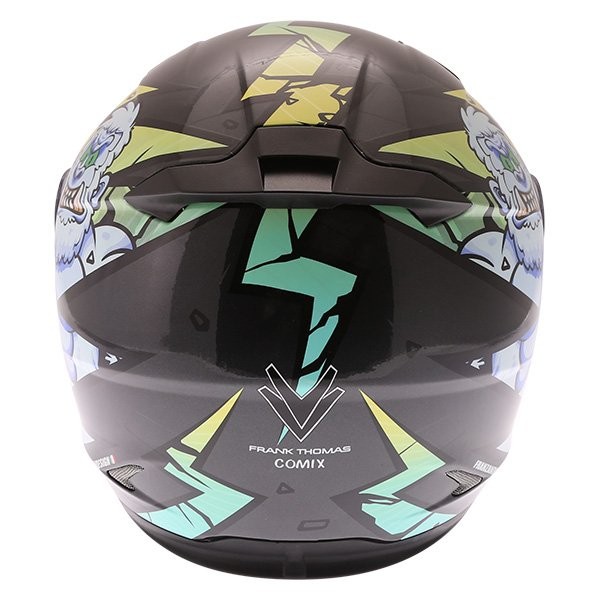 Frank Thomas FT36Y Comix Gorilla Kids Full Face Motorcycle Helmet Back