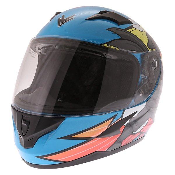 Frank Thomas FT36Y Comix Ninja Kids Full Face Motorcycle Helmet Front Left