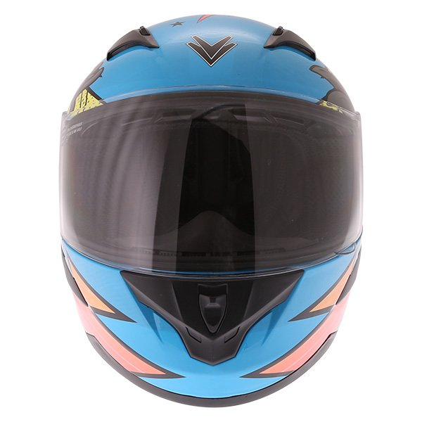 Frank Thomas FT36Y Comix Ninja Kids Full Face Motorcycle Helmet Front