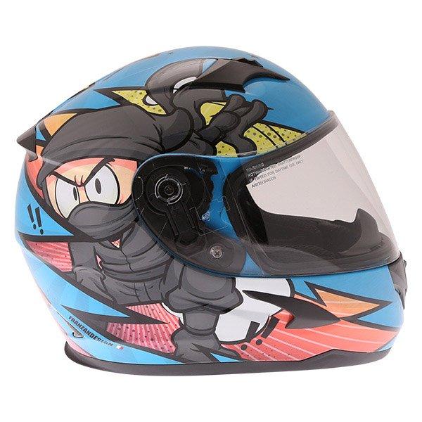 Frank Thomas FT36Y Comix Ninja Kids Full Face Motorcycle Helmet Right Side