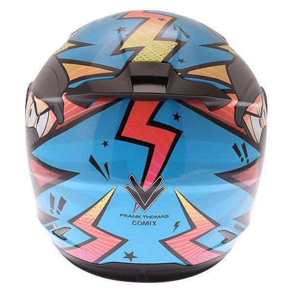 Frank Thomas FT36Y Comix Ninja Kids Full Face Motorcycle Helmet Back