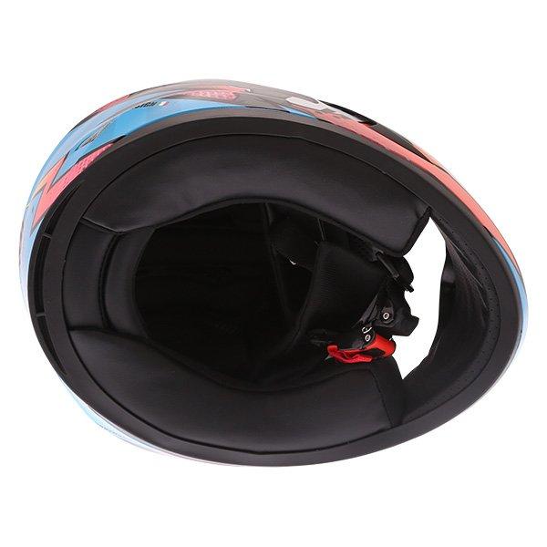 Frank Thomas FT36Y Comix Ninja Kids Full Face Motorcycle Helmet Inside