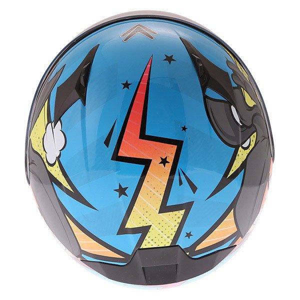 Frank Thomas FT36Y Comix Ninja Kids Full Face Motorcycle Helmet Top