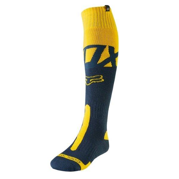 Fox Kila Coolmax Thick Navy Yellow Sock Front