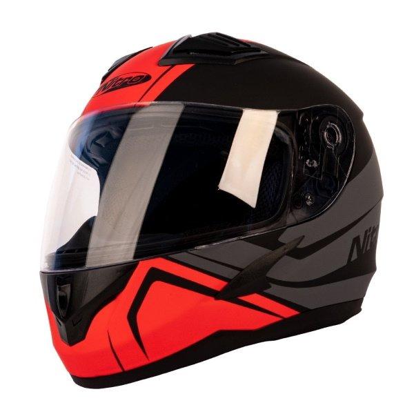 N2400 Rogue Junior Helmet Satin Black Gun Red Motorcycle Helmets