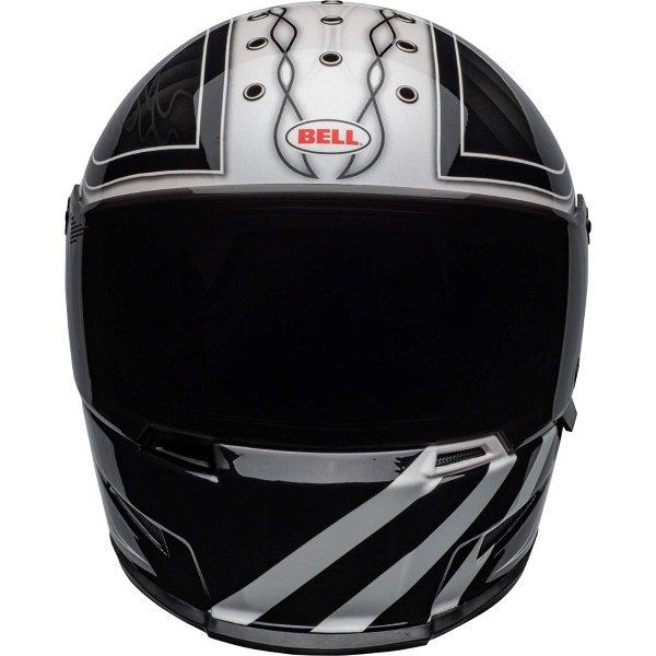 Bell Eliminator Outlaw Black White Full Face Motorcycle Helmet Front