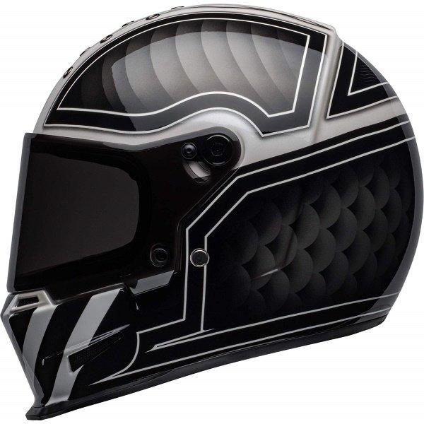 Bell Eliminator Outlaw Black White Full Face Motorcycle Helmet Left Side