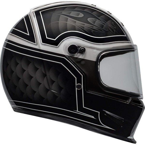 Bell Eliminator Outlaw Black White Full Face Motorcycle Helmet Right Side