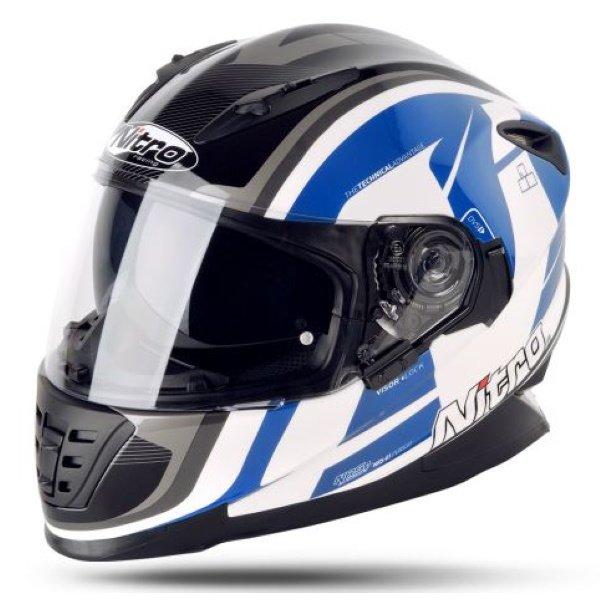 Pursuit DVS Helmet White Black Blue Motorcycle Helmets