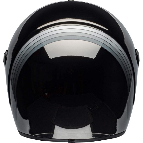 Bell Eliminator Spectrum Matte Black Chrome Full Face Motorcycle Helmet Back