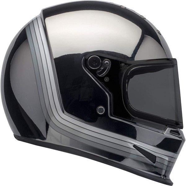 Bell Eliminator Spectrum Matte Black Chrome Full Face Motorcycle Helmet Right Side
