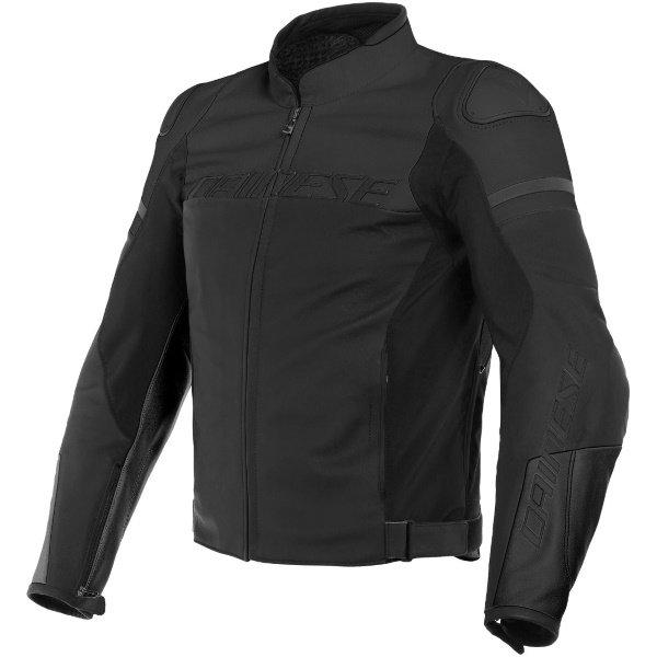 Dainese Agile Matt Black Motorcycle Jacket Front