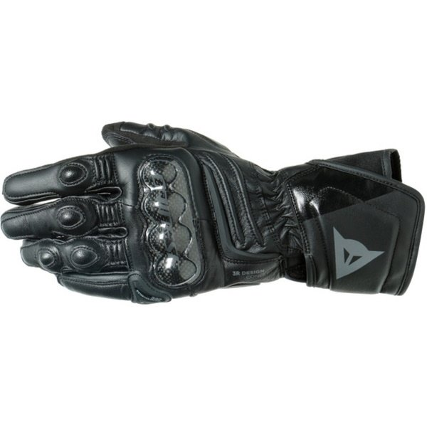 Dainese Carbon 3 Long Black Motorcycle Gloves Back