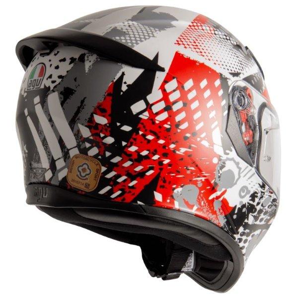 AGV K3 SV-S Pop Helmet Black Red Grey Size: XS
