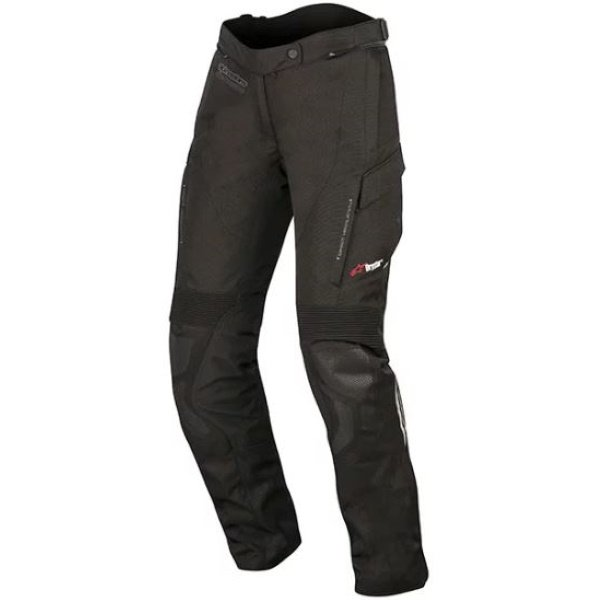 Alpinestars Stella Andes V2 Drystar Ladies Black Textile Motorcycle Pants Front