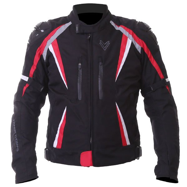 Sports Jacket Black Red White Mens Motorcycle Clothing, Boots And Gloves