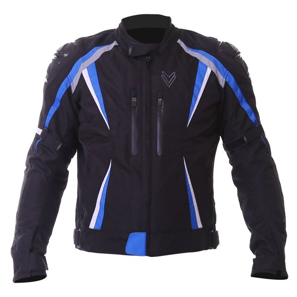 Sports Jacket Black Blue White Mens Motorcycle Clothing, Boots And Gloves