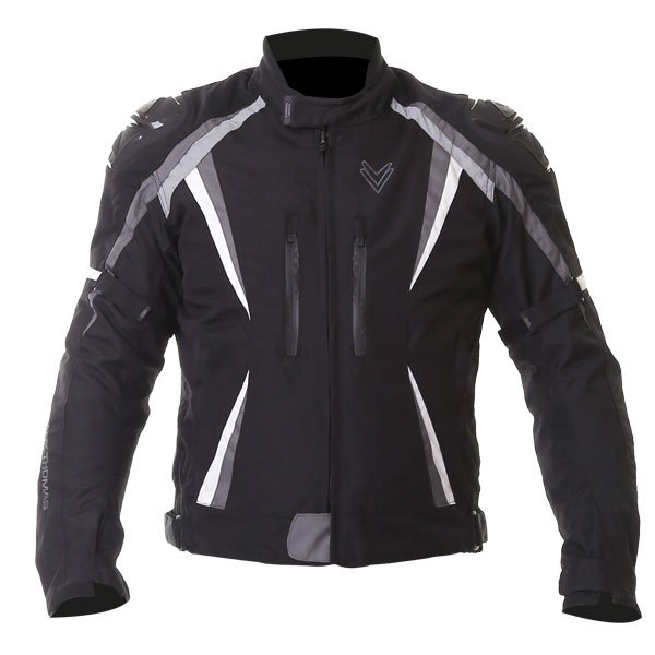 Sports Jacket Black Grey White Mens Motorcycle Clothing, Boots And Gloves