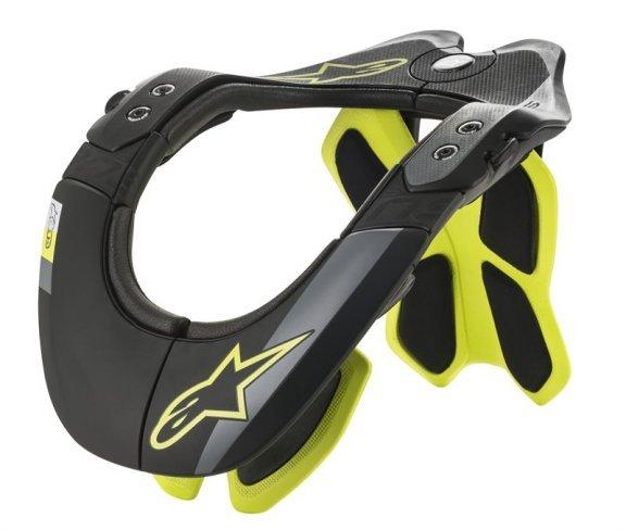 Alpinestars BNS Tech-2 Black Yellow Fluo MX Neck Brace