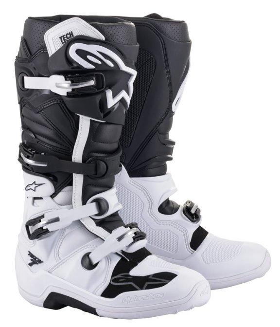 Alpinestars Tech 7 White Black MX Boots