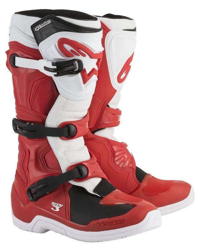 Alpinestars Tech 3 Red White MX Boots