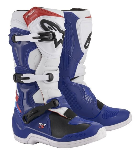 Alpinestars Tech 3 Blue White Red MX Boots