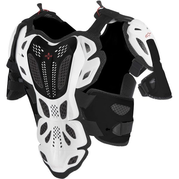 Alpinestars A-10 Full Chest Protectors White Black Red Size: M-L