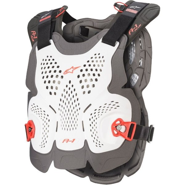 Alpinestars A-1 Plus White Anthracite Red Chest Protector Front