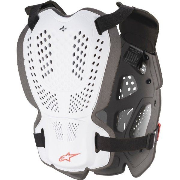 Alpinestars A-1 Plus White Anthracite Red Chest Protector Back