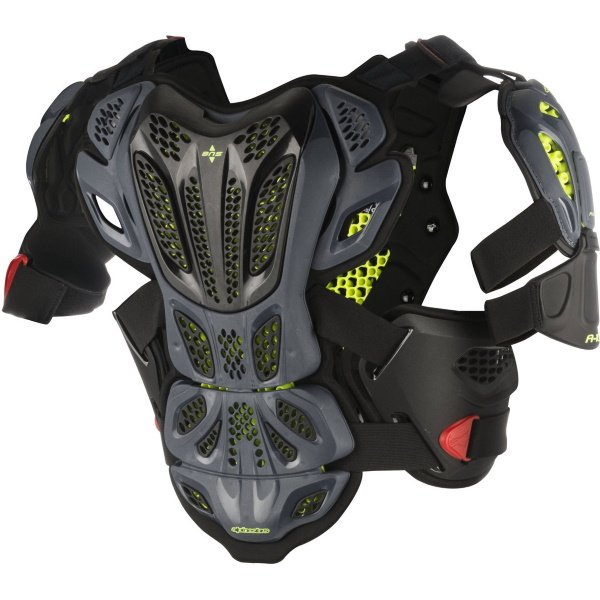 Alpinestars A-10 Anthracite Black Red Full Chest Protector Back