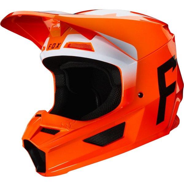 V1 Werd Helmet Orange Motorcycle Helmets