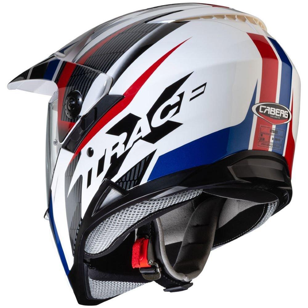 Caberg X-Trace Savana Helmet White Black Blue Red Size: L