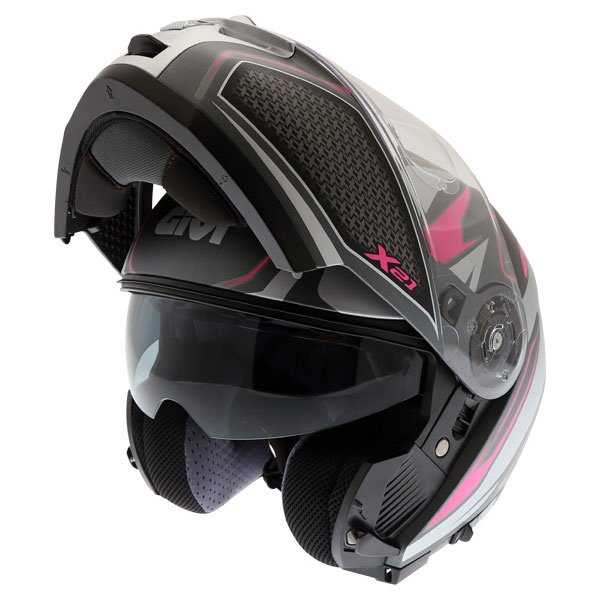 X21 Challenger Shiver Helmet Matt Pink Grey Givi Helmets