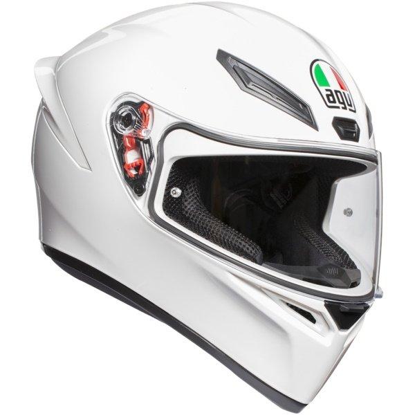 K1 Plain Helmet White