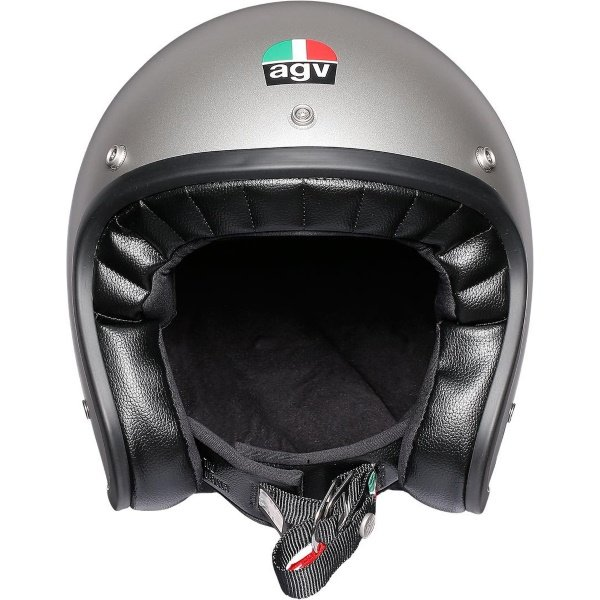 AGV X70 Mono Matt Grey Open Face Motorcycle Helmet Front