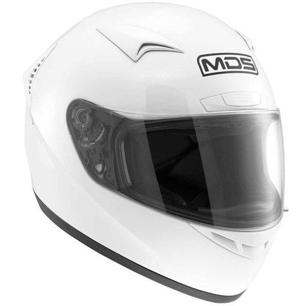 M13 Solid Helmet White MDS Helmets